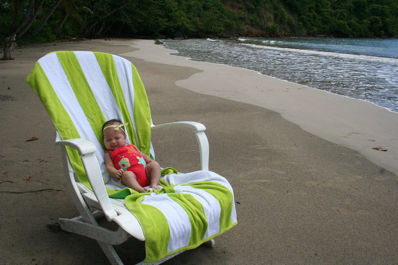 Lillyonna's first day on one of the many secluded islands-here in Grenada!