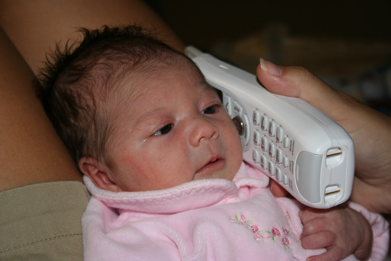 8-28<br /> Lilly was crying until she heard Daddys comforting voice on the phone!  She can't wait to be with him soon!