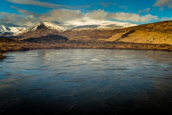 Frozen pond, Glencoe