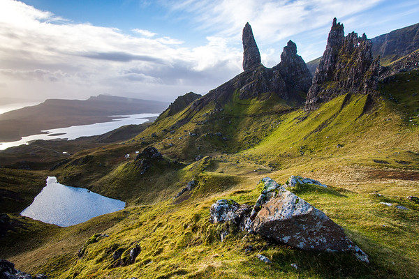 Old Man of Storr, Isle of Skye. (At last after 4h, some light).