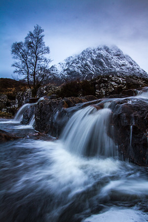 Etive Mor Waterfall;