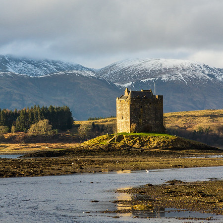 Castle Stalker, near Glencoe; late light