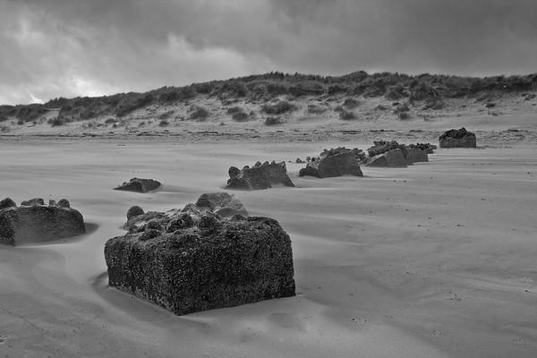 Allied defences, Forveran beach, Newburgh, Aberdeenshire.