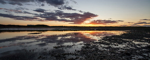 Sun going down on the mud flats, Ythan Estuary