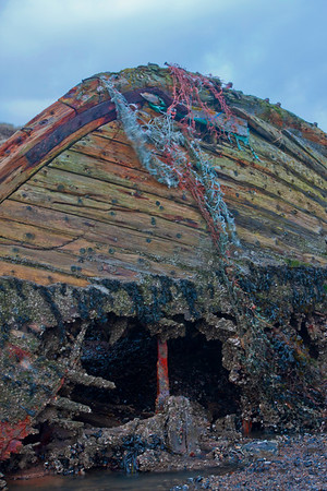Ruined boat in the coastal reaches of the Ythan