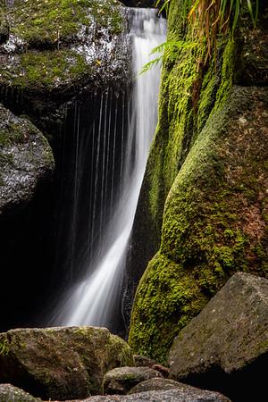 Waterfall, Burn O'Vat, Dinnet, Ballater, Grampian region.