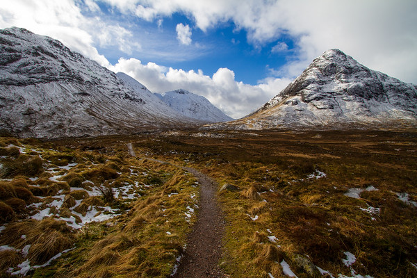 View down Glen Etive, Glencoe.