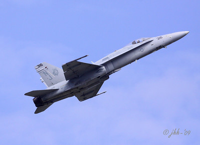 "F-18 from VFA-125, flown by LCDR Cassady - You can read it in this photo, just below the canopy. His handle is ""SWEETAL"""