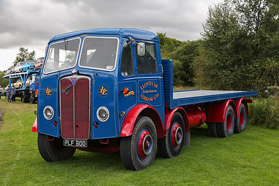 """PLF600 AEC Mammoth Major Flatbed Lorry Lloyd's of Ludlow """"Louise""""."""