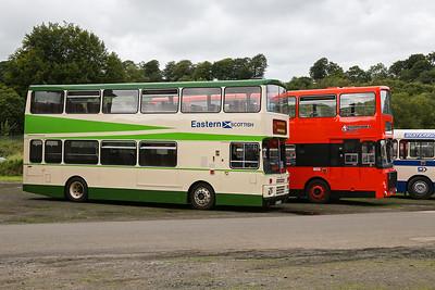 E187HSF 1987 Volvo B10M-50 Citybus Eastern Scottish Fleet No VV187. A735PSU 1983 Volvo Ailsa B55-10 mkIII Strathclyde PTE Fleet No A109.