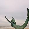 statue of a mermaid at Noordwijk aan Zee, Holland