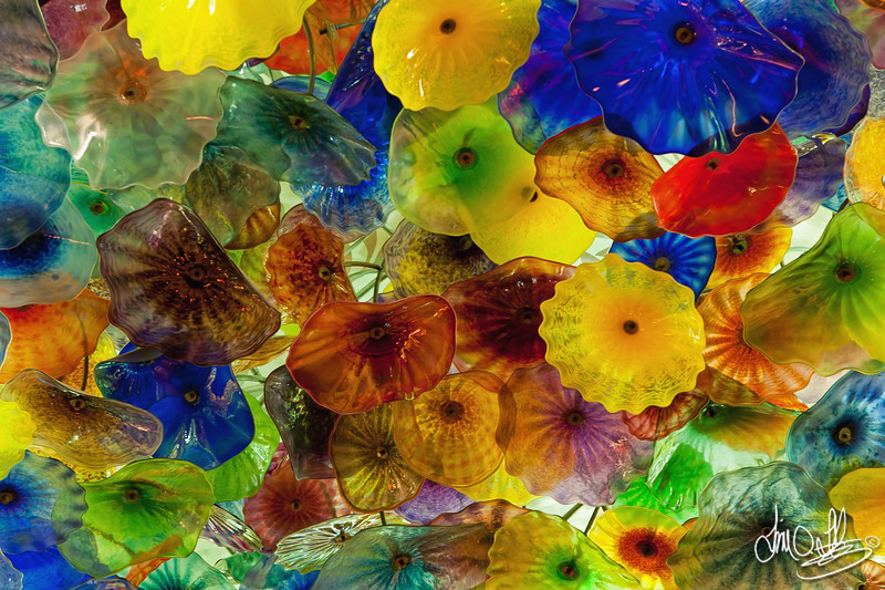 Chandelier called Fiori di Como by glass sculptor Dale Chihuly<br /> Bellagio Hotel and Casino • Las Vegas, NV