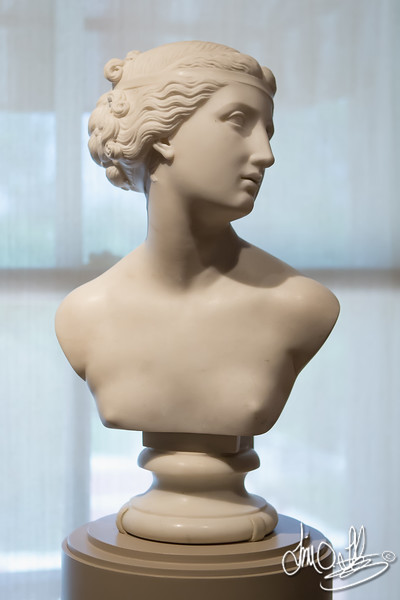 Head of Young Girl, 1820 • Maker: John Gibson, British, 1790 - 1866 • Marble<br /> The Huntington Library, Art Collections, and Botanical Gardens