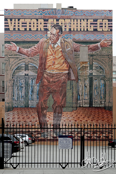 The Pope of Broadway mural • A tribute to Anthony Quinn<br /> Victor Clothing Co. Building • Los Angeles, CA