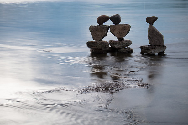 Remic Rapids Balanced Rock Sculpture Project, by John Felice Ceprano - 2015