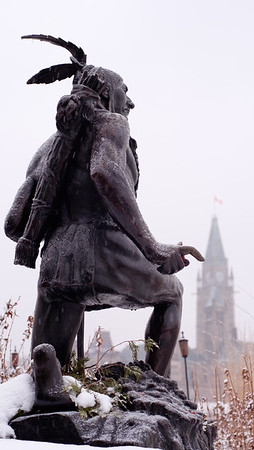 Anishinabe Scout, by sculptor Hamilton MacCarthy, 1918.