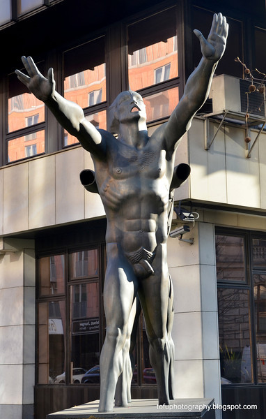 A statue in Berlin, Germany in February 2014