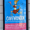 Poster for the film Cavewoman in Berlin, Germany in February 2014