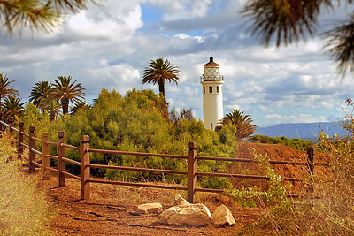 Pt. Vincente Lighthouse with Catalina backdrop