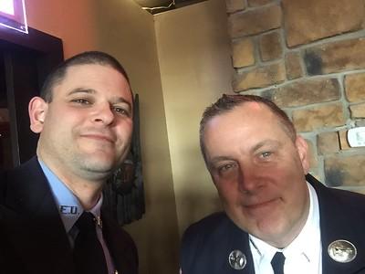 Jason Batz & FDNY Lt. J. Scott Lyons.