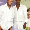 Michael Strahan, Charles Oakley<br /> photo by Rob Rich © 2008 516-676-3939 robwayne1@aol.com