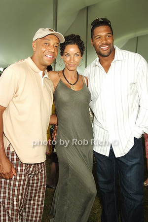Russell Simmons, Nicole Murphy, MIchael Strahan photo by Rob Rich © 2008 516-676-3939 robwayne1@aol.com
