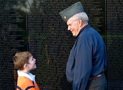 Robert Kelley with his namesake and grandfather Robert Kelley. Vietnam Veterans Memorial. Washington, DC. 2009