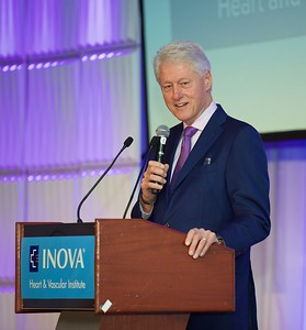 PRESIDENT BILL CLINTON. MCLEAN,VIRGINIA. MAY 2017.