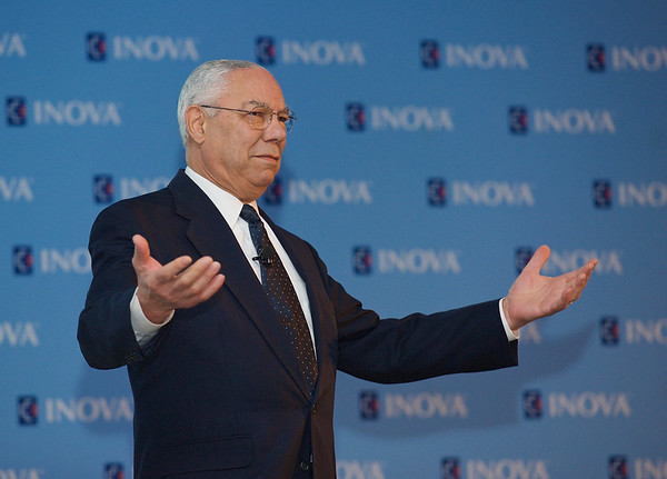 General Colin Powell. McLean, Virginia. April 2016