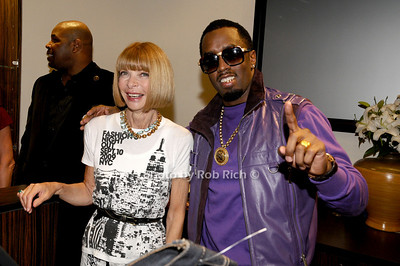 Anna Wintour, Sean P.Diddy Coombs photo  by Rob Rich © 2009 robwayne1@aol.com 516-676-3939