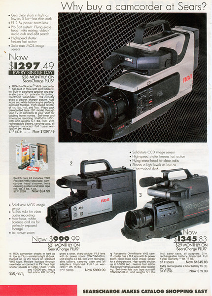 Remember when the only way to record something was to rent one of these beasts from a Video Store?  I don't remember what they went for - $25 a day maybe?