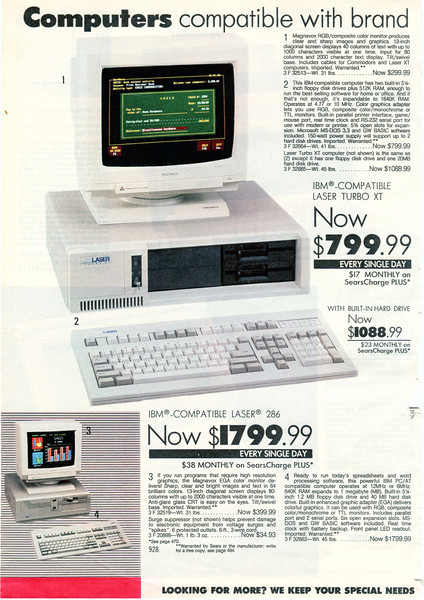"""That $1799 doesn't include the monitor, so be sure to order that too - it delivers """"Sharp, clear and bright images and in text in 64 brilliant colors"""". Now $399.99."""