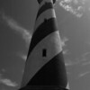 """Cape Hatteras Lighthouse Black and White"" #13"