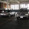 sweet gray car! not the stupid bmw Z8... the subaru! ;)