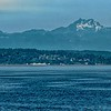 View of the Olympic Mountains from the Bainbridge Ferry.