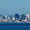 View of downtown Seattle from the Bainbridge Ferry.