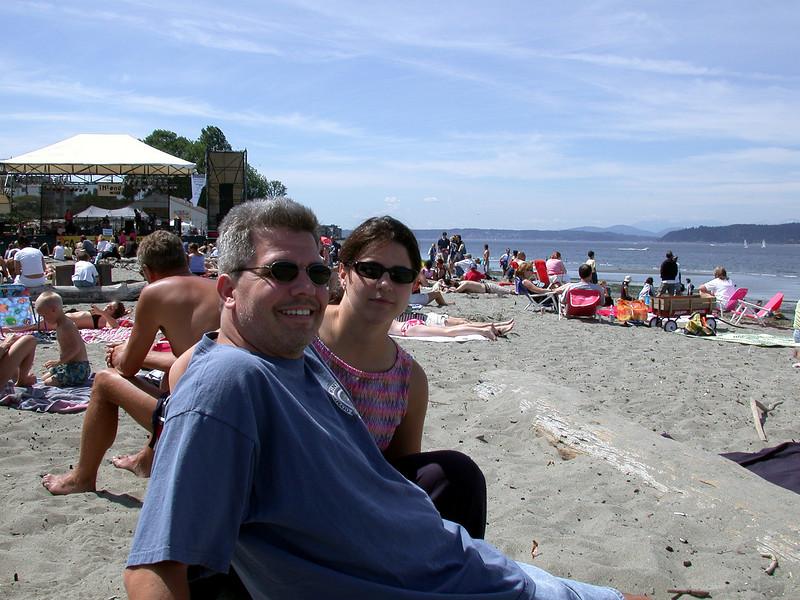 Greg and Cristina at the beach.