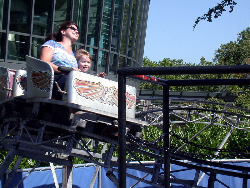 Cristina and Brice in the rollercoaster 2