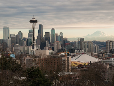Seattle skyline, January 8, 2011.