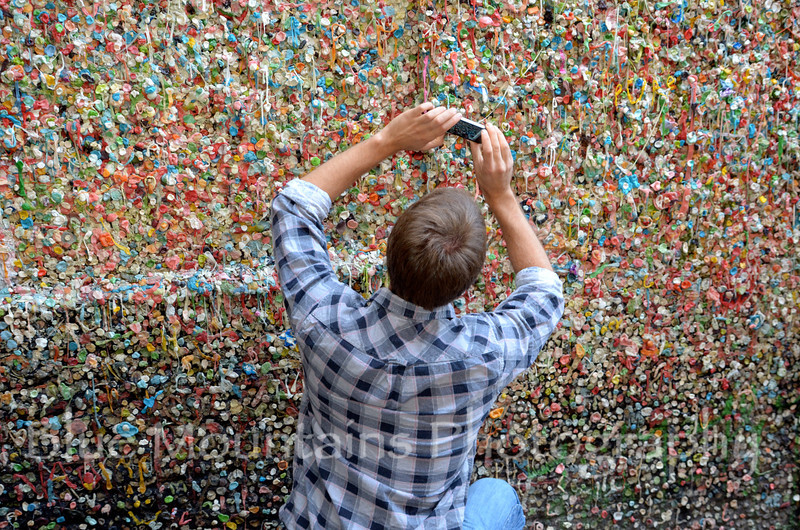 Bubblegum wall below Pike's Place Market.