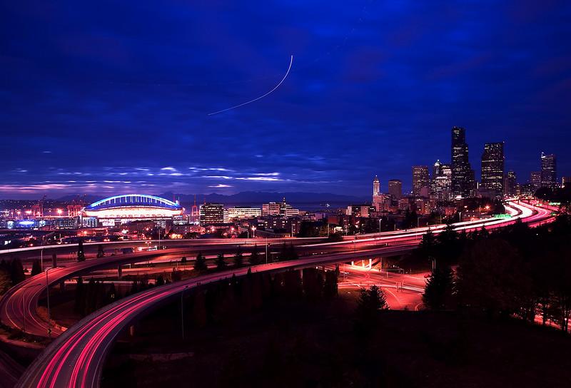 Seattle Skyline from 12th St. Bridge.