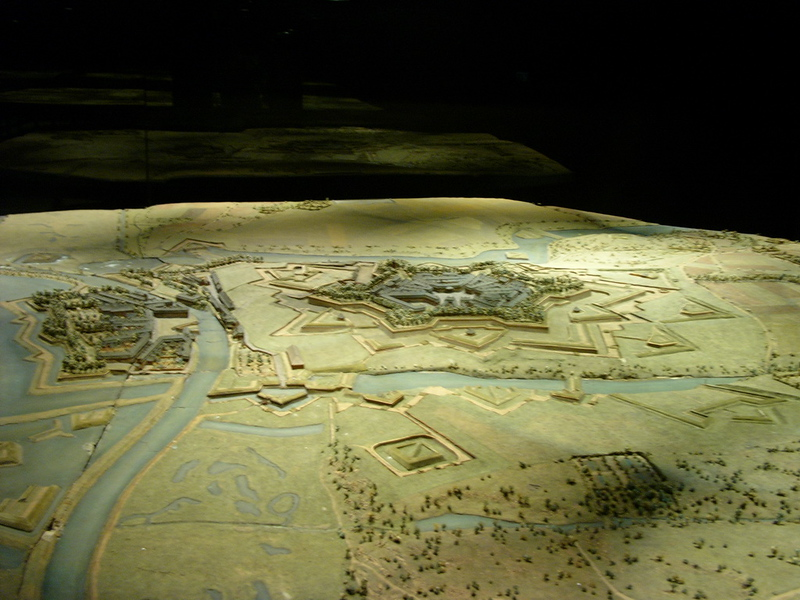 18th Century Military Model of Forified Town