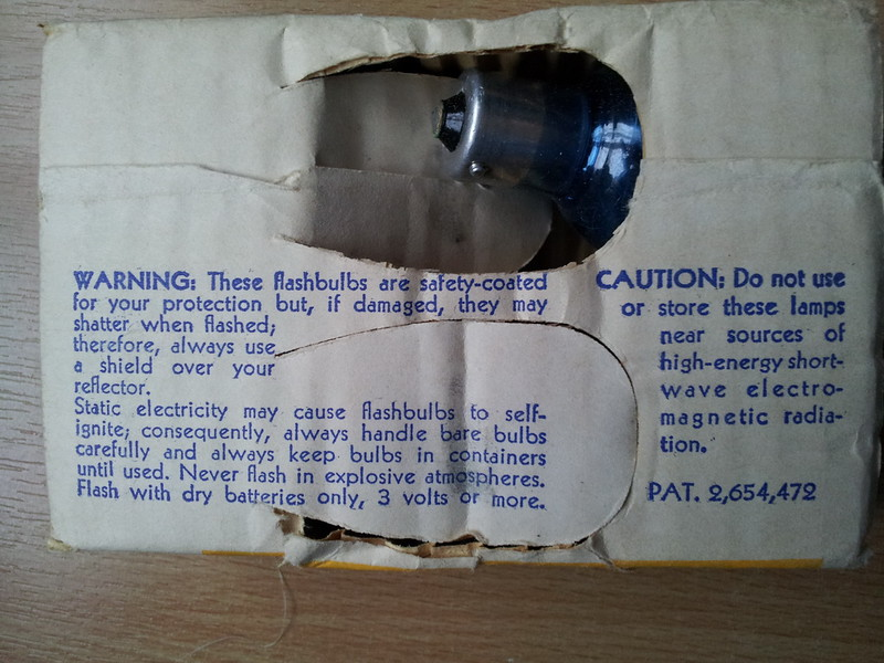 Flash Bulbs Warning