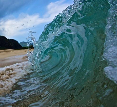 Small surf on west Oahu, hawaii.