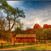 View of Cathedral Rock from Crescent Moon Ranch
