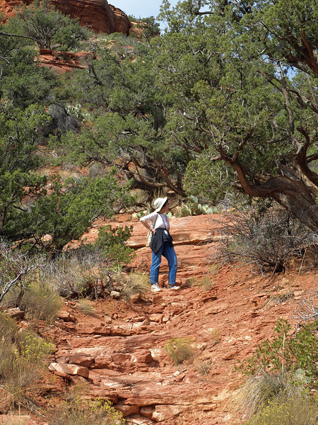 Hiking in red-rock country
