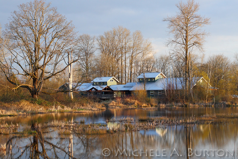 View of the Norm Dicks Visitor Center at Billy Frank Jr. Nisqually NWR