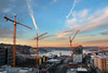 Sunset highlights South Lake Union Construction <br /> <br /> Troy Laundry Construction Site<br /> Seattle, WA<br /> <br /> January 14, 2015