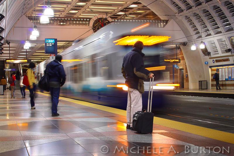"Sound Transit Pioneer Square Tunnel Station Seattle, WA  <a href=""http://micheleburton.blogspot.com/2011/11/photo-of-week-november-3-2011.html"">November 3, 2011</a>"