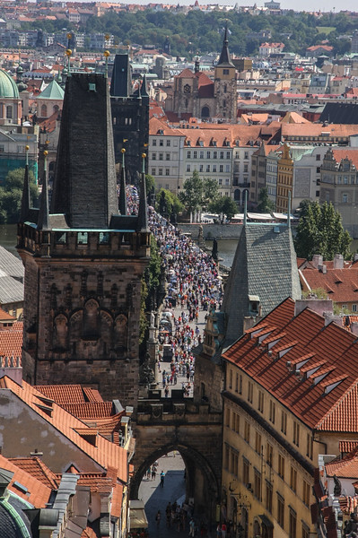 St. Nicholas church bell tower views, Mala Strana, Prague, Czech Republic NO
